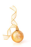 Golden Christmas Bauble Royalty Free Stock Photos