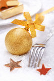Golden Christmas Bauble Stock Image