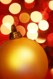 Golden Christmas Bauble Stock Photos