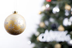 Golden Christmas bauble. Stock Photography