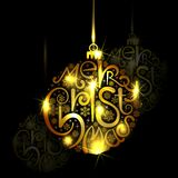 Golden Christmas Bauble Royalty Free Stock Images