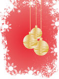 Golden christmas baubles Royalty Free Stock Images