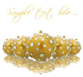 Golden Christmas baubles Royalty Free Stock Photos