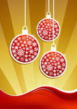 Golden christmas baubles background Royalty Free Stock Image