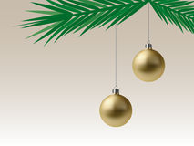 Golden Christmas Baubles (Vector) Royalty Free Stock Image