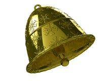 Golden Christmas bell №2 Stock Photos