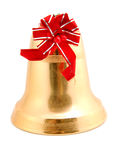 Golden Christmas bell Stock Photography