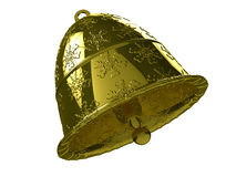 Golden Christmas bell №2 Stock Photos