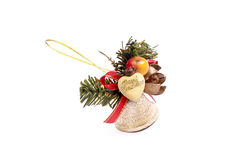 Golden Christmas bell Royalty Free Stock Image