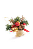Golden Christmas bell Royalty Free Stock Photo