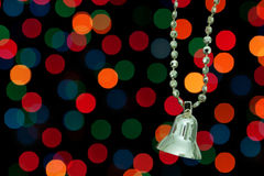 Golden Christmas bell. Royalty Free Stock Photo