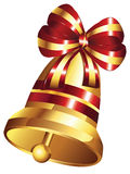 Golden Christmas Bell Royalty Free Stock Images