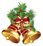 Golden Christmas Bell Stock Photography