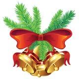 Golden Christmas Bell Stock Photo