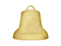 Golden Christmas bell isolated on white Royalty Free Stock Image