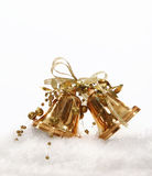 Golden Christmas bell tree decoration Stock Image