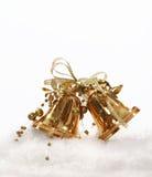 Golden Christmas bell tree decoration Stock Image