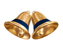 Golden christmas bells Stock Photo