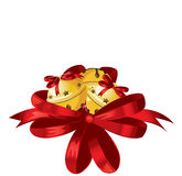 golden Christmas bells Stock Photography