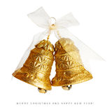 Golden christmas bells Royalty Free Stock Photo