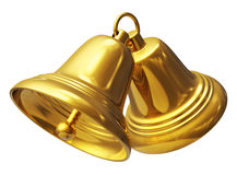 Golden Christmas bells Royalty Free Stock Image