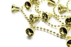Golden christmas bells Royalty Free Stock Photos