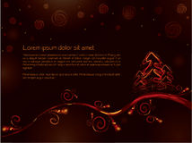 Golden christmas card Stock Photography