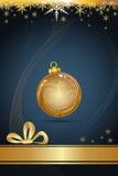 Golden christmas card Royalty Free Stock Photo