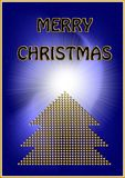 Golden christmas card royalty free stock photos