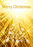 Golden christmas card Royalty Free Stock Photography