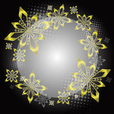 Golden Christmas circle Stock Images
