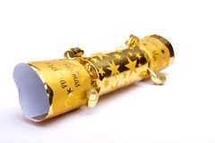 Golden Christmas Cracker Stock Image