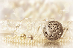 Golden Christmas decor Royalty Free Stock Photo