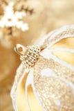 Golden Christmas decor Stock Photography