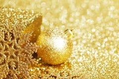 Golden christmas decor Royalty Free Stock Photo