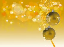 Golden christmas decoration Stock Photos