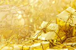 Golden christmas decoration Royalty Free Stock Photos