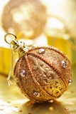 Golden christmas decoration Stock Photography