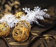 Golden Christmas decoration Royalty Free Stock Image