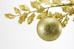 Golden Christmas decoration Royalty Free Stock Image