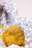 Golden Christmas decoration Stock Photography