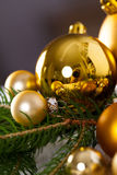 Golden Christmas decoration background Royalty Free Stock Image