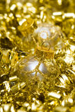 Golden Christmas decoration ball Royalty Free Stock Image