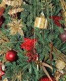 Golden Christmas decoration Royalty Free Stock Photos