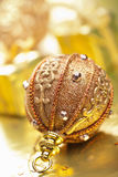 Golden christmas decoration Stock Images