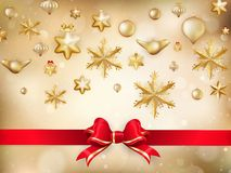 Golden Christmas Decoration. EPS 10. Vector file included Royalty Free Stock Image