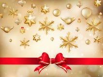 Golden Christmas Decoration. EPS 10 Royalty Free Stock Image