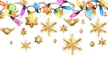Golden Christmas Decoration. EPS 10 Royalty Free Stock Photos