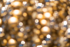 Golden christmas decoration or garland lights Stock Image
