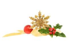 Golden Christmas decoration Stock Photos